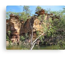Weather Worn over the eons of time, Umbrawarra Gorge, N.T. Australia. Canvas Print
