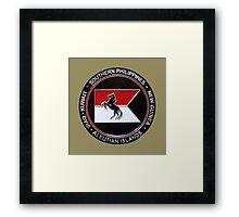 1-153rd Cavalry Regiment 2013 Deployment Emblem Framed Print