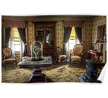 Victorian Living Room Photograph Poster