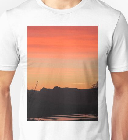 Sunset over Langdale Pikes. Unisex T-Shirt