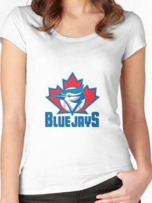 Toronto Blue Jays Logo Women's Fitted Scoop T-Shirt