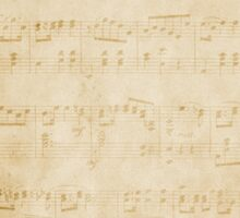 Vintage Sheet Music Background Sticker
