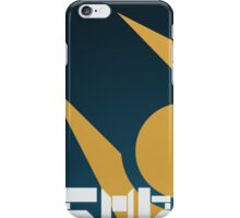 SImple HL2 Combine Poster - Blue & Gold iPhone Case/Skin