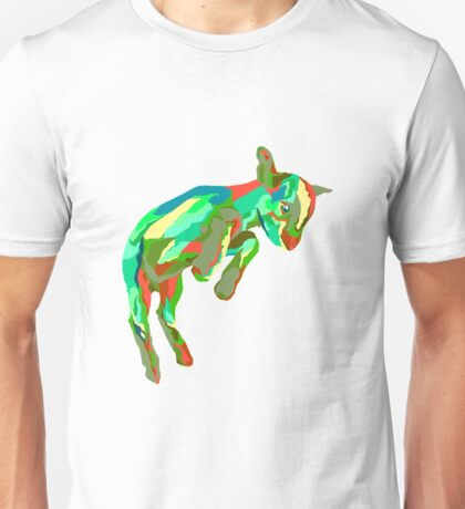 Leaping Red n Green Goat Unisex T-Shirt