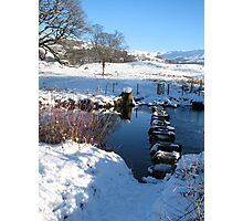 Stepping stones under Loughrigg Ambleside. Photographic Print