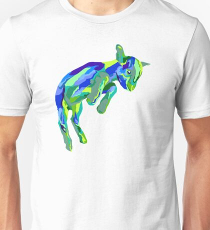 Leaping Blue Goat Unisex T-Shirt