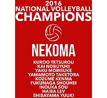 Nekoma Champions Photographic Print