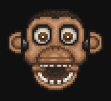 Five Nights at Candy's - Pixel art - Chester the Chimp One Piece - Long Sleeve