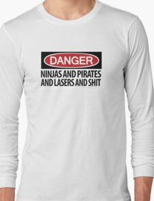Ninjas and Pirates and Lasers, Oh My! Long Sleeve T-Shirt