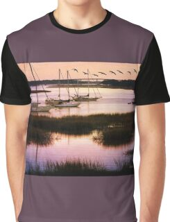 Boats at Anchor ~ Evening Tranquility Graphic T-Shirt