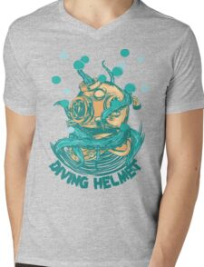 Diving Helmet Mens V-Neck T-Shirt