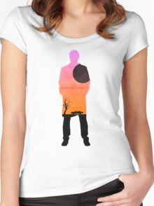 Supernatural - Castiel Impala Silhouette Women's Fitted Scoop T-Shirt