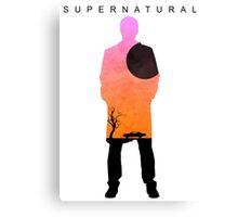 Supernatural - Castiel Impala Silhouette Canvas Print