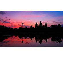 Angkor Wat Sunrise Reflection Photographic Print