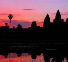 Angkor Wat Sunrise Reflection Sticker