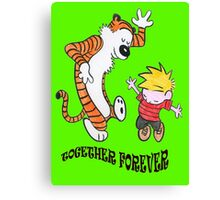 calvin and hobbes foreves Canvas Print