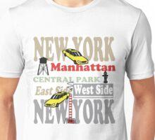 New York Manhattan destination sign illustration Unisex T-Shirt