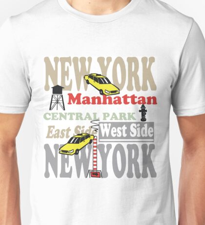 New York Manhattan destination sign illustration Unisex T-Shirt