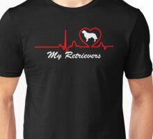 heartbeat for my Retrievers Unisex T-Shirt