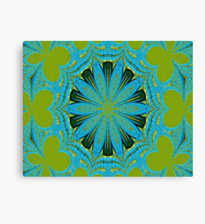 Lime Blue Abstract Canvas Print