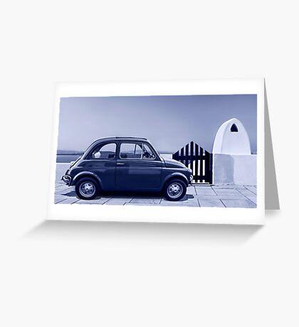Italian car Fiat 500 Greeting Card