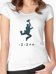 - 2 - 2 + = / Chim-Chim Cher-ee Women's Fitted Scoop T-Shirt