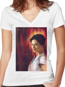 Irene Adler Women's Fitted V-Neck T-Shirt
