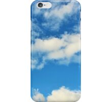 Clear Blue Clouds iPhone Case/Skin