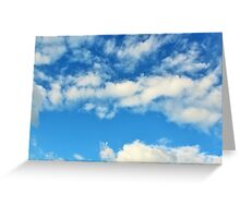 Clear Blue Clouds Greeting Card