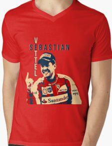Sebastian Vettel - Ferrari Mens V-Neck T-Shirt