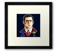 I Love Lamp: Brick Tamland's Awesome Quote From The Movie Anchorman; Hand-Drawn Illustration  Framed Print