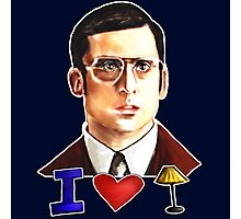 I Love Lamp: Brick Tamland's Awesome Quote From The Movie Anchorman; Hand-Drawn Illustration  Photographic Print