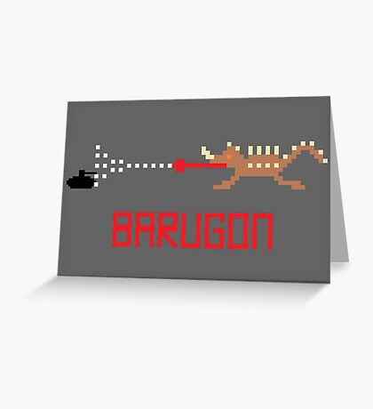 Barugon Pixel Greeting Card