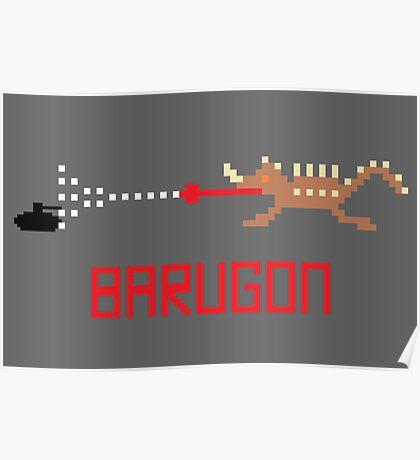 Barugon Pixel Poster