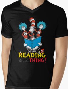 Read Across America - Reading is my Thing Mens V-Neck T-Shirt