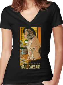 Hail Caesar! Movie Women's Fitted V-Neck T-Shirt