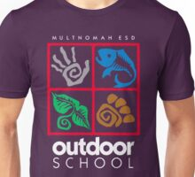 Outdoor School Logo (fcw) Unisex T-Shirt