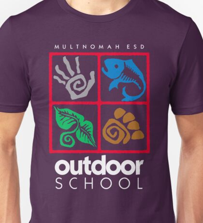 Outdoor School Logo (fcw) Unisex T-Shirt