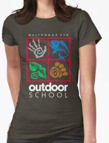 Outdoor School Logo (fcw) Womens Fitted T-Shirt