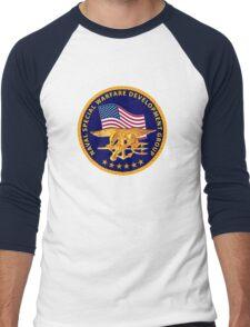 US DEVGRU/Seal Team 6 Logo Men's Baseball ¾ T-Shirt
