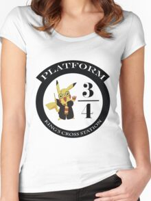 Pikachu potter Women's Fitted Scoop T-Shirt