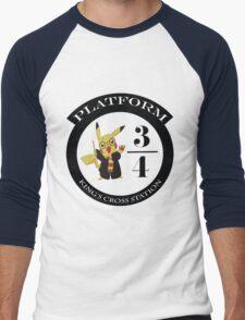 Pikachu potter Men's Baseball ¾ T-Shirt