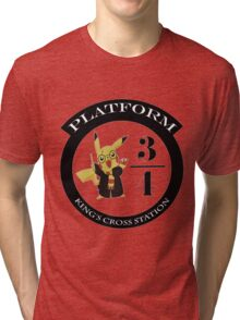 Pikachu potter Tri-blend T-Shirt