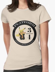 Pikachu potter Womens Fitted T-Shirt