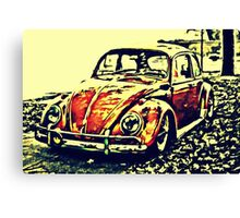 Golden bug Canvas Print