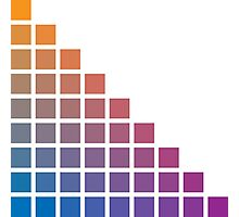 Ombre orange>purple Photographic Print