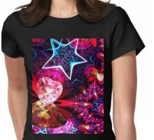 stars and hearts spherical Womens Fitted T-Shirt