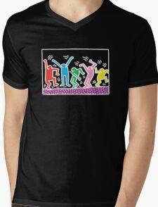 Keith Haring Dance Mens V-Neck T-Shirt