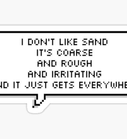 Anakin hates sand  Sticker
