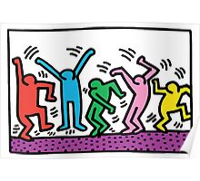 Keith Haring Dance Poster